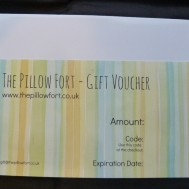 the pillow fort gift voucher
