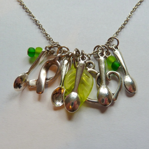 spoon charm necklace the pillow fort