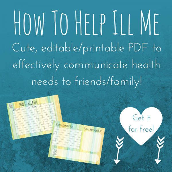 How to help chronic illness printable PDF