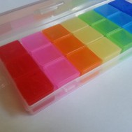 weekly rainbow pill medicine holder 3 daily sections