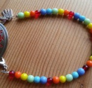 rainbow medical id bracelet