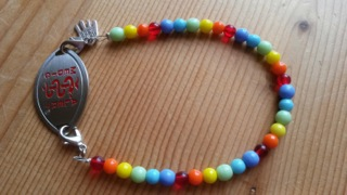 rainbow medical id bracelet