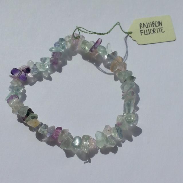 rainbow fluorite crystal bracelet
