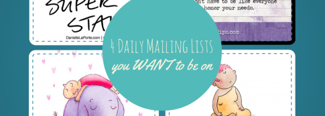 4 daily mailing lists you want to be on